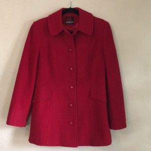 Vintage MacKintosh Red Wool Dress Coat